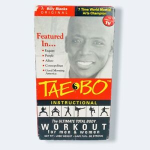Tae Bo - Instructional-The Ultimate Total Body Workout for Men & Women 1998 VHS