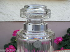 Decanter Whisky Minerva Silber Böhmen Cristal A R Label Karaffe mit Facetten