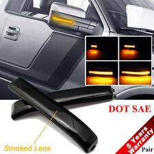 For F-150, Raptor 09-14 LED Smok Lens Side Mirrors Reflector Turn Signal Light ~