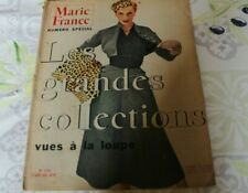 Magazine Marie France n° 456 grandes  COLLECTIONS vue a la loupe 1953