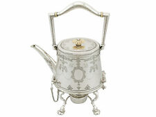 Antique Sterling Silver Spirit Kettle by Martin Hall & Co Ltd, Sheffield 1920s