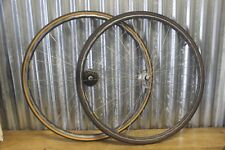 Vintage Mavic Open 4CD 700c Clincher Wheelset Shimano 105 Hubs Retro Eroica