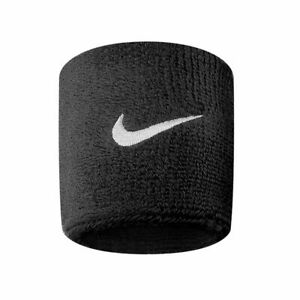 NIKE SWEAT WRISTBANDS Swoosh Sports Athletic tennis Fitness Sweatbands One Pair