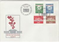 Switzerland 1962 Museum Palace of Nations ONU Slogan FDC Stamps Cover Ref 25413