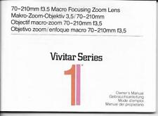 buy manuals and guides for vivitar camera ebay rh ebay co uk Vivitar ViviCam Instruction Manual vivitar owners manuel t324n