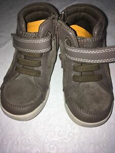 Clarks First Shoes Size 7 M Boys Baby Toddler Brown Leather