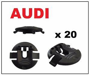 20 x AUDI Wheel Arch Lining Fastener Washer Splash Guard Clips