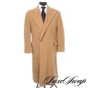#1 MENSWEAR Vintage Polo Ralph Lauren Camel Wide Lapel Martingale Coat USA 40 NR