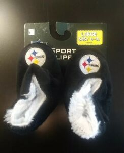 Pittsburgh Steelers Baby Booties Slippers Infant Large NFL Football Licensed