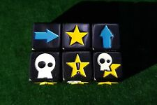 3 Dadi Blocco personalizzato-Nero Opaco-Blood Bowl-Fantasy Football
