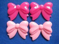 10pcs Resin Hair Bow Flatback-Pink/Hot Pink B138