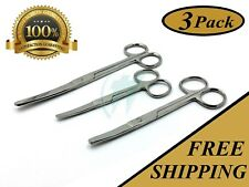 "3 OPERATING SCISSORS 4.5""+5.5""+6.5"" CURVED BLUNT BLUNT SURGICAL INSTRUMENTS"