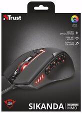 TRUST 21726 SIKANDA GXT 164 8 BUTTON MMO USB OPTICAL ERGONOMIC RH MOUSE 5000 DPI