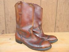 1960's Unknown Brand Western Leather Boots / Us Men's Est Size:10-10 1/2 used