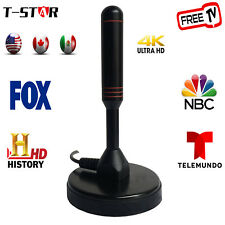 Super HD TV Antenna HDTV FREE Digital Channels w/ 10ft Cable For Indoor &Outdoor