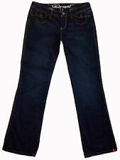 EDC Esprit SIX dark low rise rigid bootcut jeans 29x33 9 long as new WOW!