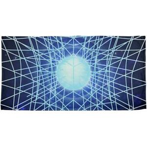Gravity of a Black Hole Singularity All Over Beach Towel