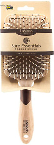 Lamoda Bare Essentials Natural Wood-Effect Large Paddle Brush for Wet/ Dry Hair