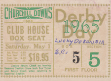 RARE VINTAGE HORSE  KENTUCKY  DERBY  ADMISSION  TICKET  MAY 1