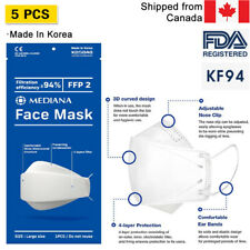 [5-PACK Made in Korea] Breathable KF 94 FACE MASK Covering/Nose Wire/Safety Mask