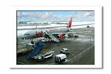 Mounted Aviation Print - Jet2.com 757 at Luton (8 x 10 inch)
