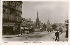 REAL PHOTOGRAPHIC POSTCARD OF STATION SQUARE, HARROGATE, WEST YORKSHIRE, RAPID