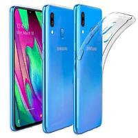 Handy Case Samsung Galaxy A40 Hülle Transparent Schutz Tasche Handyhülle Cover