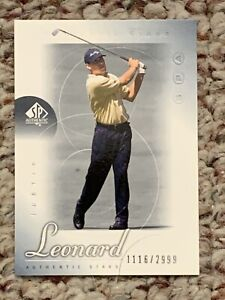 2001 Upper Deck SP Authentic Golf Card #64 Justin Leonard AS Rookie 1116/2999