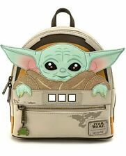 Baby Yoda Star Wars Mandalorian Loungefly Faux Leather Mini Backpack New w/ tags