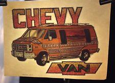 "1970's Vintage Roach Heat Transfer Iron On "" Chevy Van "" (DCV45)"