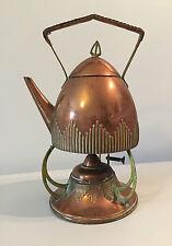 WMF, antique kettle spirit copper art & craft, nouveau signed, teapot samovar