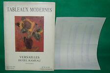 catalogue vente enchères VERSAILLES Tableaux modernes + liste prix de vente (18)