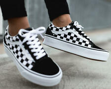 SIZE 5 or 5.5 - VANS Women's Old Skool Plateform Checkerboard Black White New