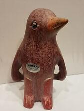 Pinguin aus Holz geschnitzt Handarbeit Deko Skulptur Tierfigur Geschenk Figur