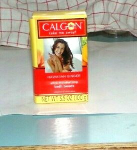 Calgon Take Me Away Hawaiian Ginger Moisturizing Bath Beads 3.5 oz NEW In Box