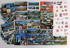 Postkarten Sammlung SCHWEIZ 61 Mehrbildkarten color, frankiert mit Briefmarken
