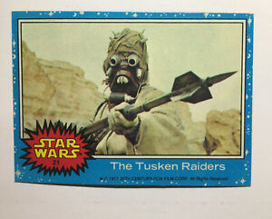 1977 Topps Star Wars Blue 1st Series #21 The Tusken Raiders Card PSA READY