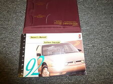 1992 Oldsmobile Cutlass Supreme Owner Manual Coupe Convertible International V6