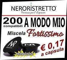 200 Capsule Cialde per da Caffe Compatibili LAVAZZA A MODO MIO aroma Fortissimo