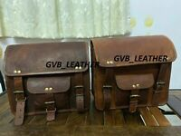 2 Motorcycle Leather Motorcycle Side Pouch Saddlebags Saddle 2 Bag Panniers