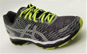 Size 10 US Men's Asics Gel-Nimbus 18 Liteshow - Black/Silver/Sulphur Spring