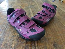 New Louis Garneau Sapphire Women's MTB Shoe: Magenta Purple size 41USA 10 Spin