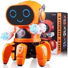 Toys For Boys Robot Kids Orange Robot Dancing Musical Toy Birthday Xmas Gift
