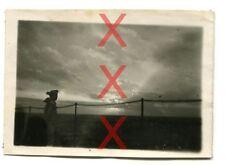 KREUZER EMDEN - orig. Foto, Sonnenuntergang, Port Victoria, Seychellen, 1926-28