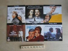 6 ROMANCE PROMO DVDS - LOVE STORY ROOM WITH A VIEW SLIDING DOORS ETC - UNPLAYED
