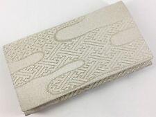 Vintage JapaneseWhite/Silver Silk Brocade Clutch Bag For Kimono Kitsuke: May18E