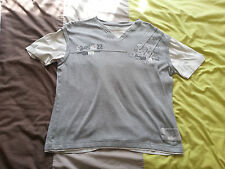 Urban Spirit Mens T-Shirt Grey and White Size Large Cotton