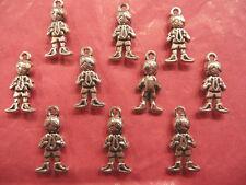 Plata Tibetana Niño encantos 10 por paquete