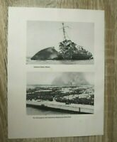 Blatt Bilder 32. Inf. Div. Dünkirchen Schiff zerstört Gefangene Soldat 2.WK WWII