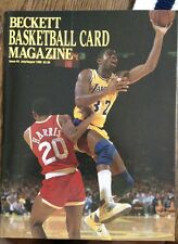 Issue #3 Beckett Basketball Magazine July/Aug 1990 Magic Johnson front cover